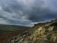 From curbar edge