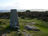 Trig point on summit