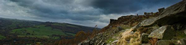 Exploring the dark Peak District